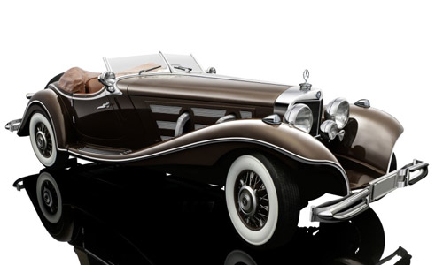 Voitures Civiles-1/12-Bauer-Mercedes Roadster 1935